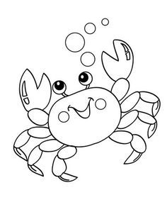Crab Coloring Pages Here Are Our Top 10 Crab Coloring Pages Printable Since Crabs Are So Different To Look At Crab Art Animal Coloring Pages Coloring Pages