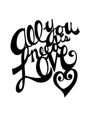 All You Need Is Love Silhouette Cutter File With Images Love
