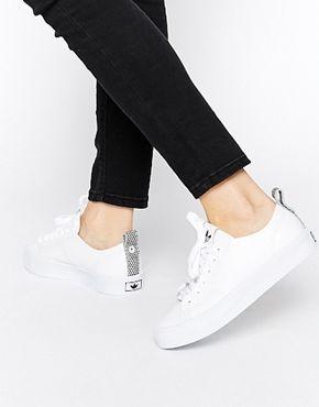 adidas Originals Honey 2.0 White Trainers at asos.com