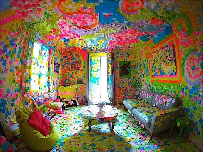 Wallpaper Post It Notes Innovations Idea Decorating Colors Carpeting