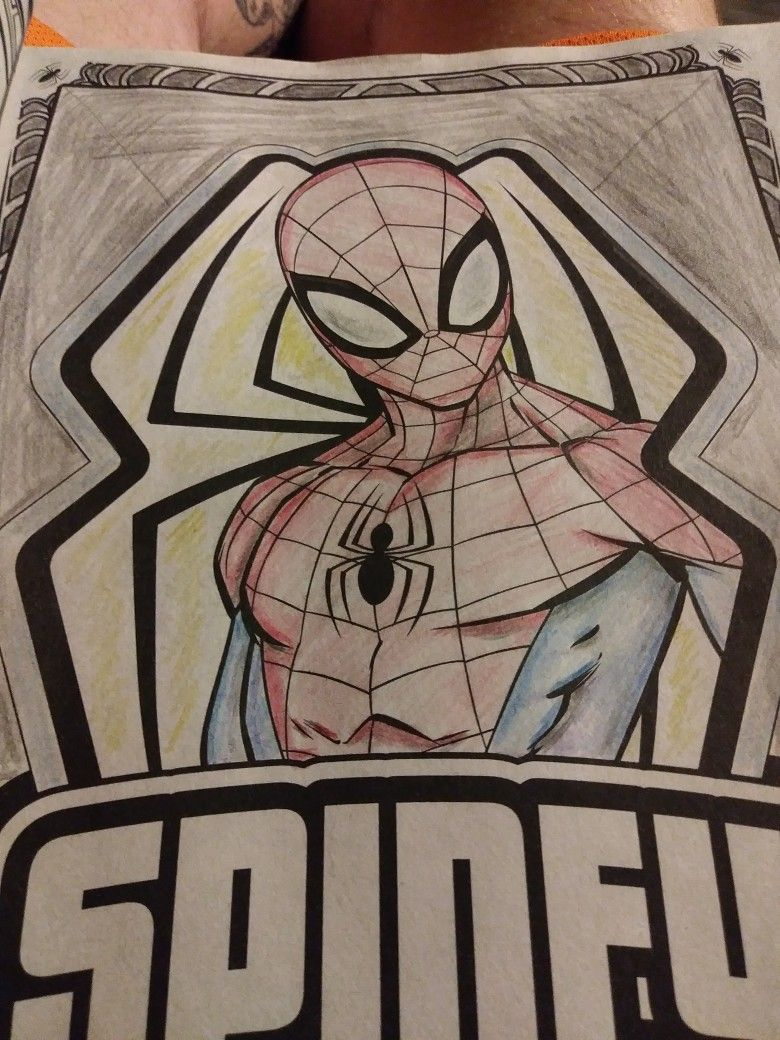 Coloring Page Spider Man Spiderman Art My Arts