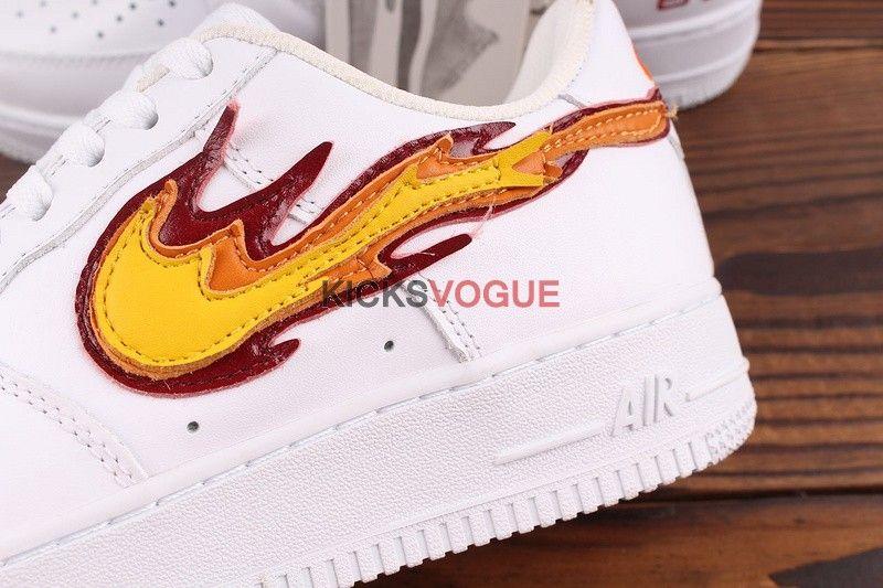 Custom Nike Air Force 1 Low Hot Flame Fire | Nike air, Air
