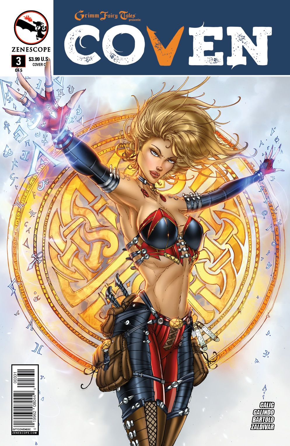 1A cover ~ Zenescope Grimm Fairy Tales Presents Coven #1