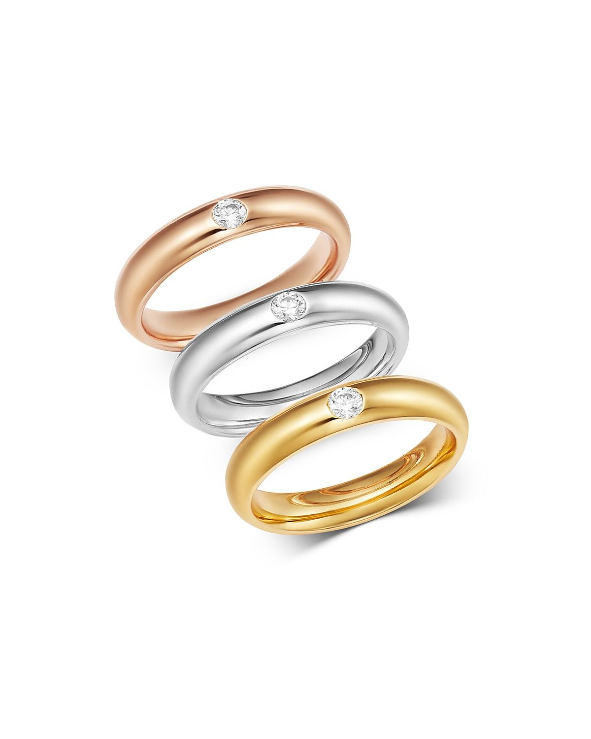Bloomingdale S Diamond Single Stone Band Ring In 14k Gold 0 08 Ct