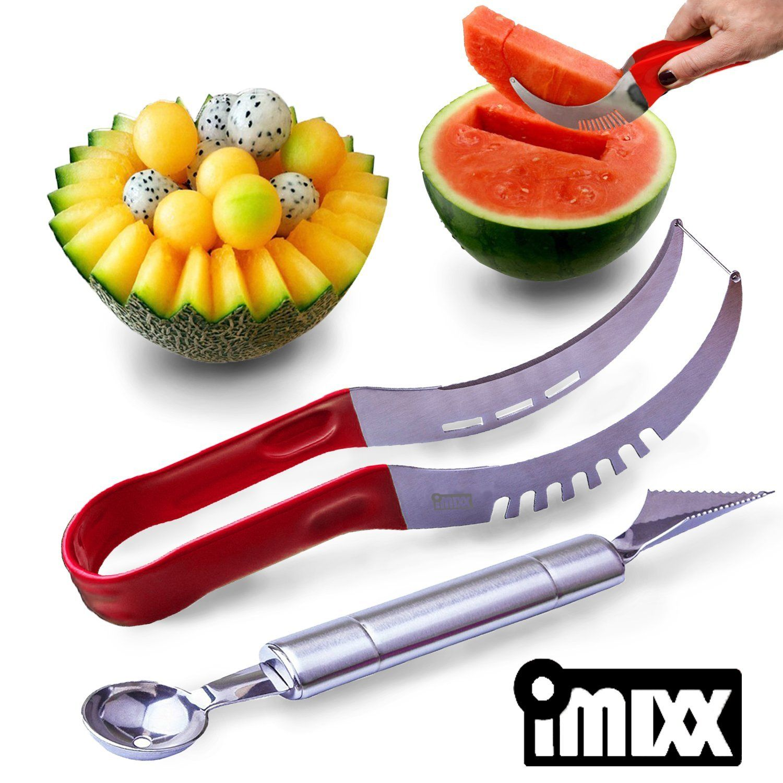Funny grab shaped multi purpose fruits vegetable peeler bottle opener - Amazon Com Watermelon Slicer Knife Cutter Corer Peeler With Melon Baller Fruit Server Knife