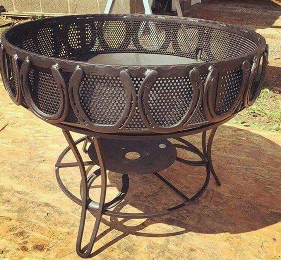 Horseshoe Fire Pit Horseshoe Projects Horseshoe Art Welding Crafts