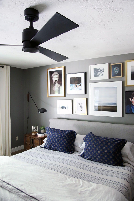 Bedroom Black Ceiling A Modern Ceiling Fan In Our Bedroom
