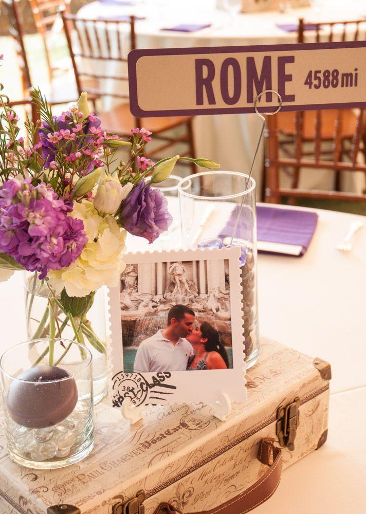 Travel Inspired Wedding Centerpieces Wedding Pinterest
