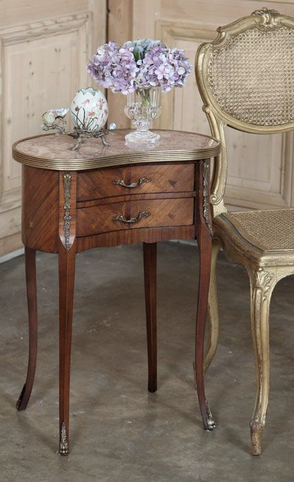 Best Antique French Louis Xvi Kidney Shaped Nightstand End 400 x 300