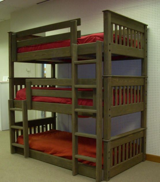 Straight Mission Triple Bunk Beds My Style Pinterest