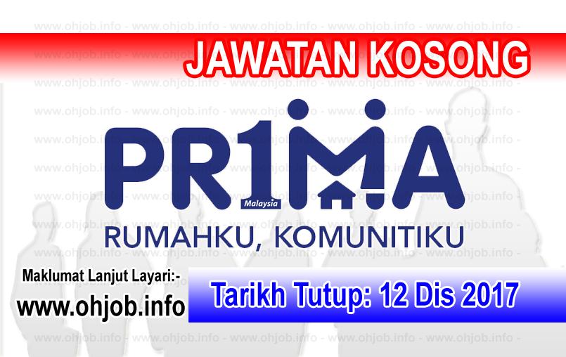 Jawatan Kosong Perbadanan Pr1ma Malaysia (12 Disember 2017