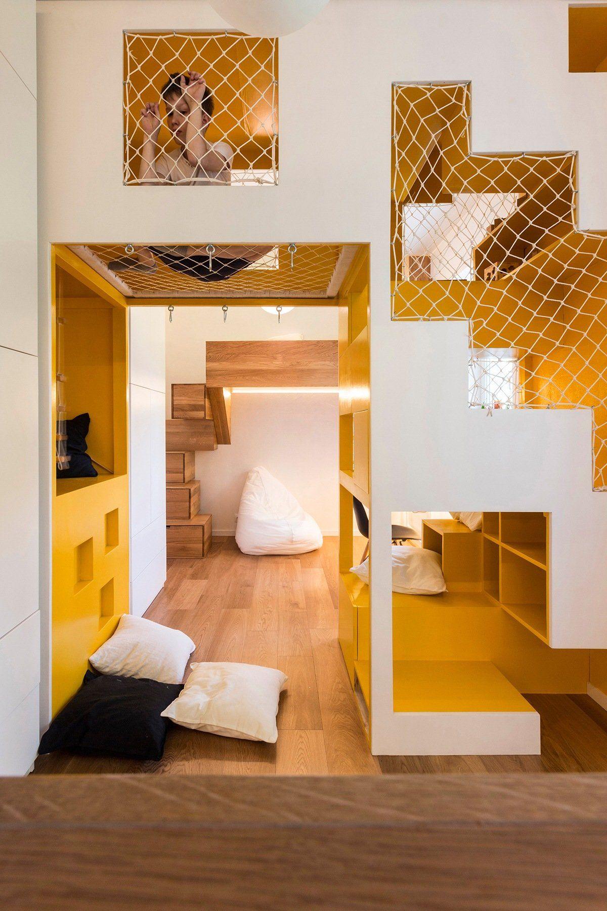 Nevjerojatno modularan obiteljski stan s razigranim prostorom ...