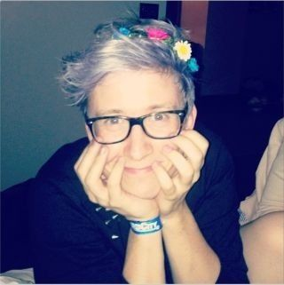 Tyler Oakley Silver Purple Hair