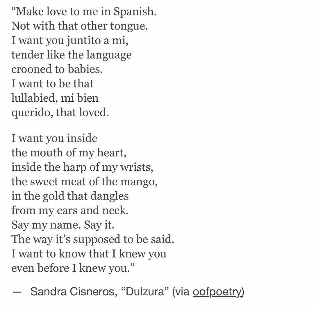 dulzura by sandra cisneros sweet sweet love   dulzura by sandra cisneros