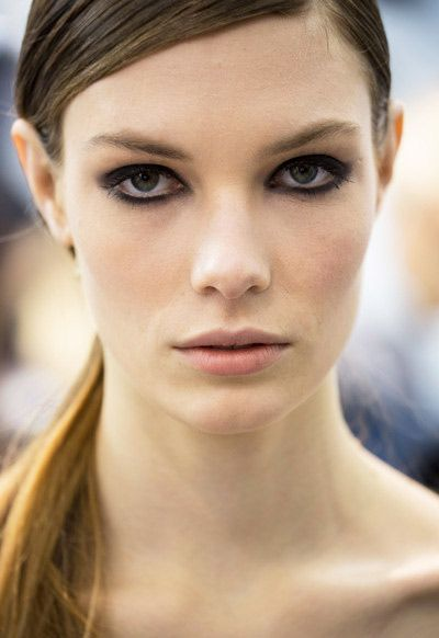 Black�Smokey eye Makeup�Trend for Spring Summer 2013. Elie Saab Spring Summer 2013. #smokey #makeup #trends