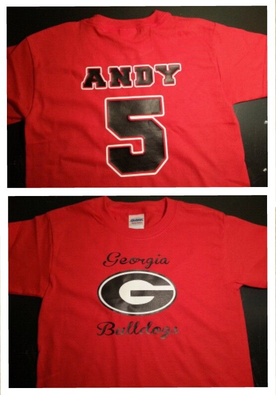 Georgia bulldog shirt - Awesome shirts my sister made for the boys for  their UGA themed birthday party! 987f08afb
