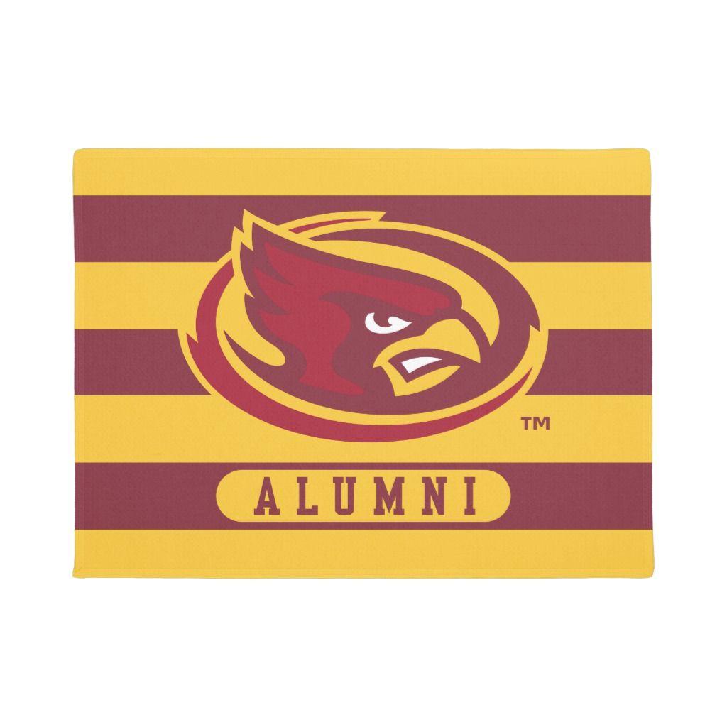 Iowa State University Iowa Logo Alumni Stripes Doormat Zazzle