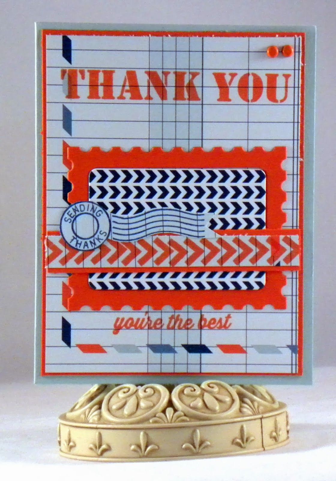 Loves Rubberstamps Blog: Sending Thanks by Design Team Member Holly Fores using MFT