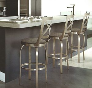 Phenomenal Buy Brushed Steel Bar Stools For Stainless Steel Kitchens Machost Co Dining Chair Design Ideas Machostcouk