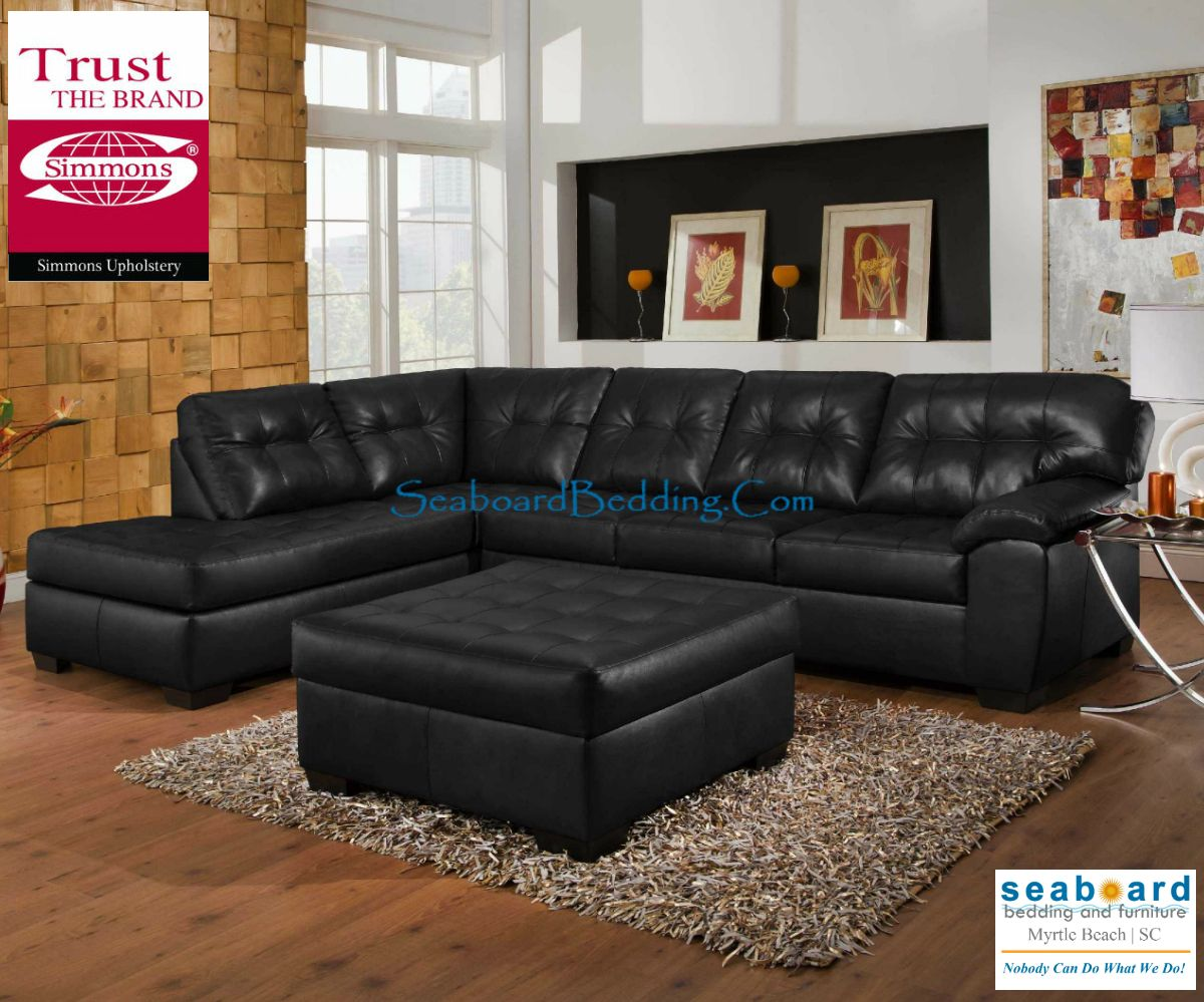 Seaboard Bedding Furniture Red Leather Sectional Red Leather