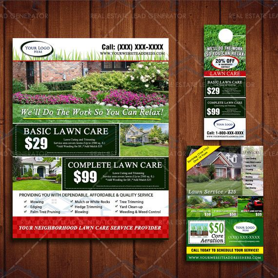 Landscaping Marketing Bundle Designs by The Lawn Market | Lawn ...