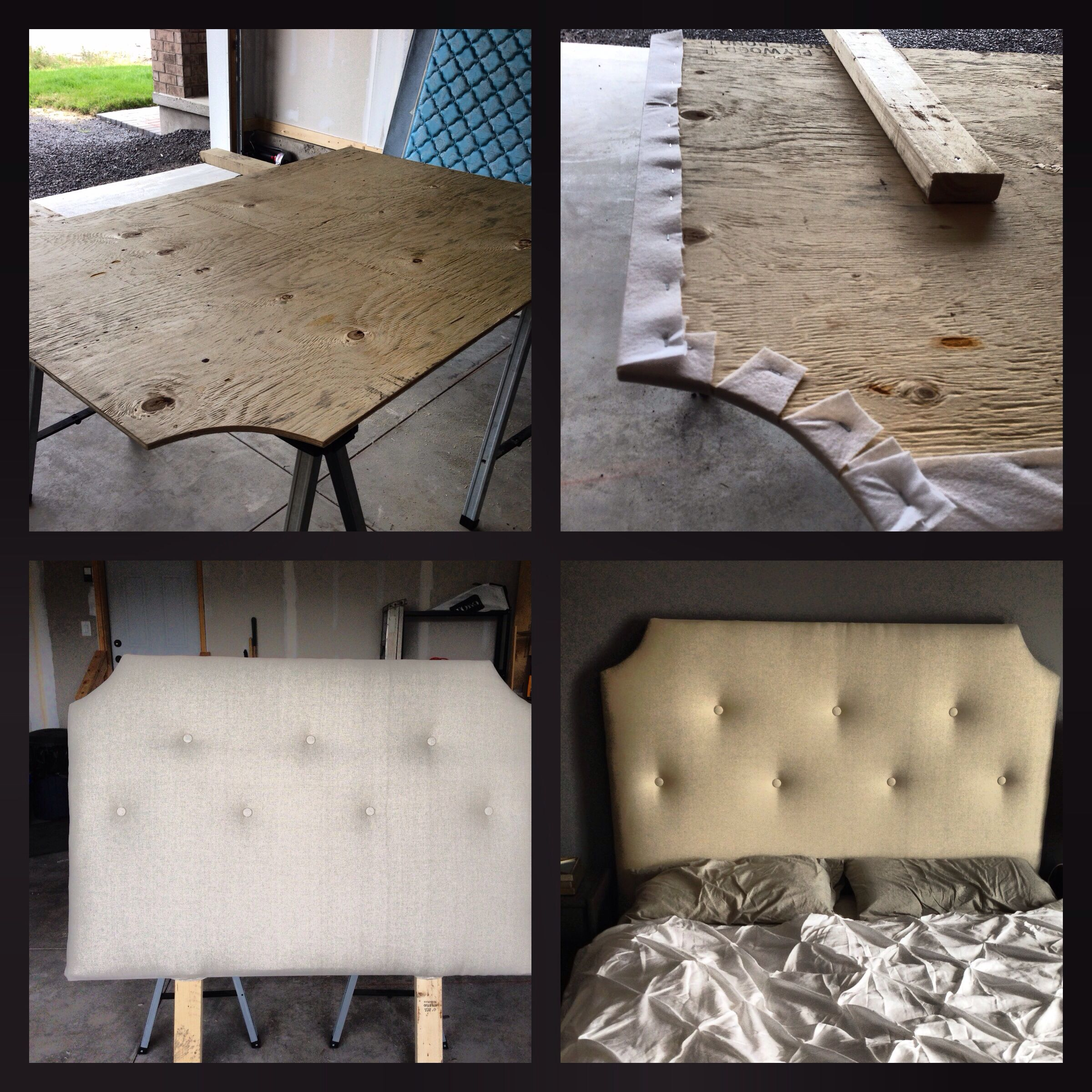 DIY tufted upholstered headboard | Good Ideas | Pinterest