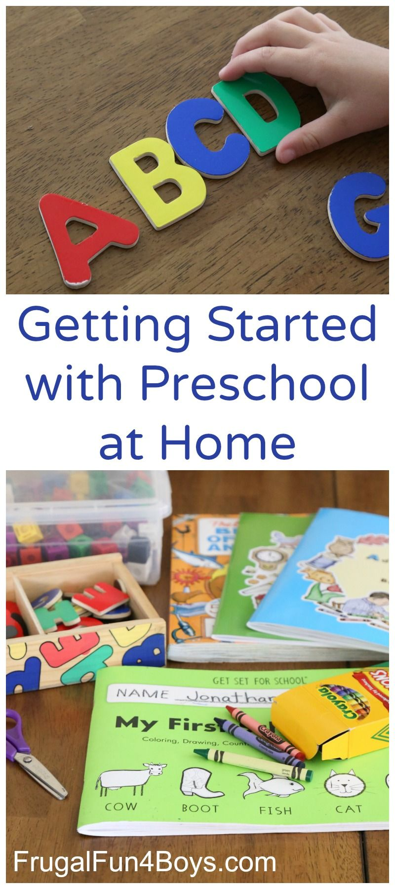 Getting Started With Preschool At Home Kids Education Pinterest