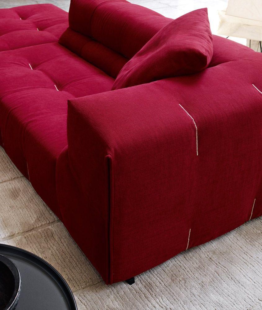 Canape Modulable Contemporain En Cuir En Tissu Tufty Too