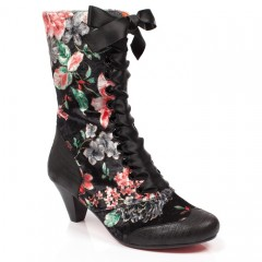 I Burgundy Ankle Boots Poetic Licence By Irregular Choice /'Lady Victoria/'