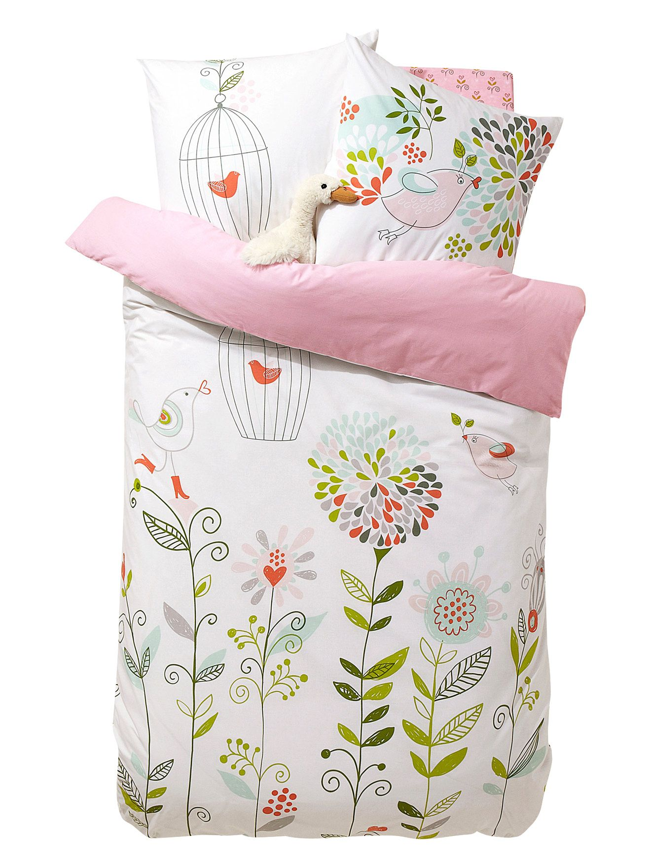 Kinder Bettwasche Set Riesenblumen Verbaudet Bettwasche Kinder
