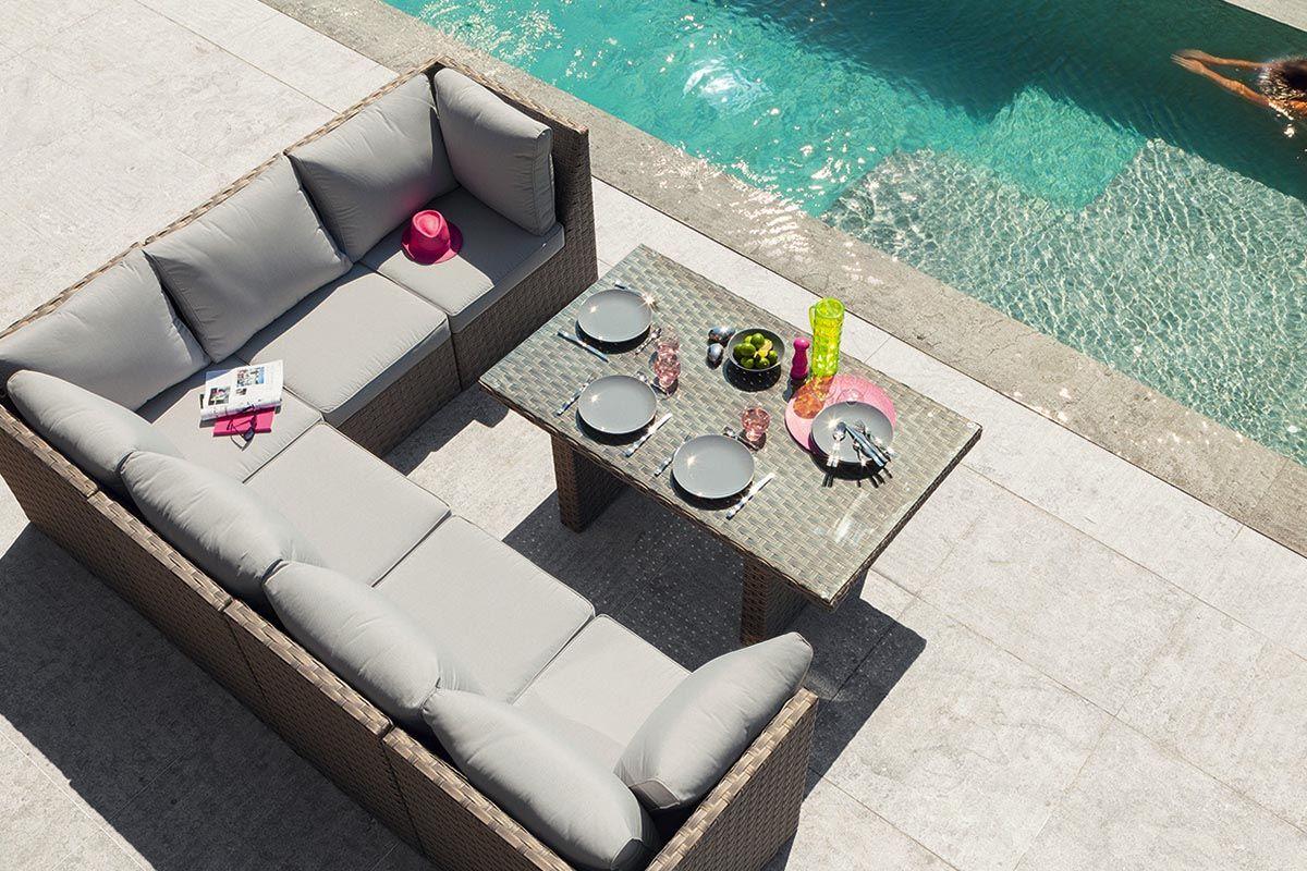 magnifique salon de jardin avec table haute | Décoration française ...