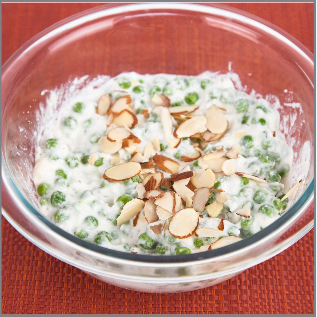 Pea Salad With Almonds Visual Recipe And Comprehension