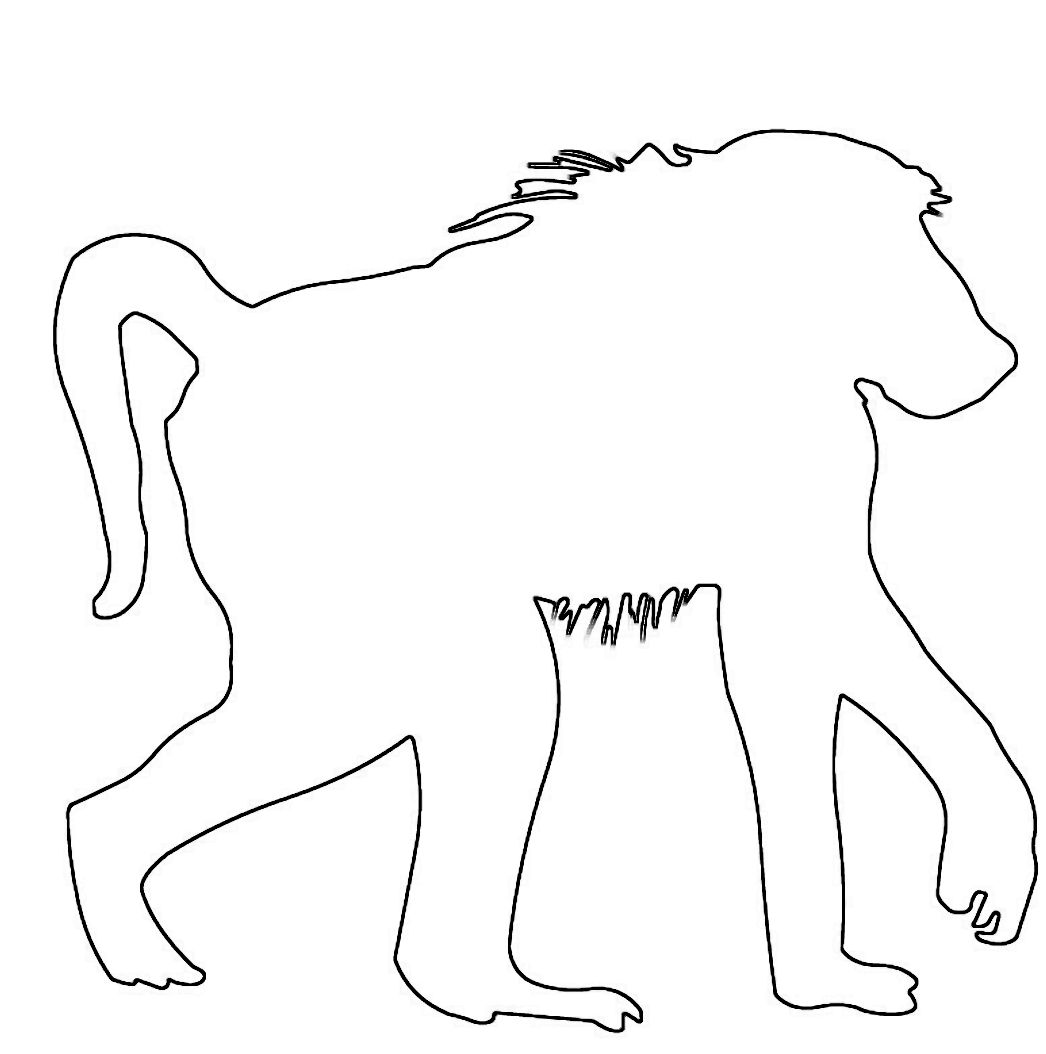 people snakes outline baboon wood saw pattern animal outlines