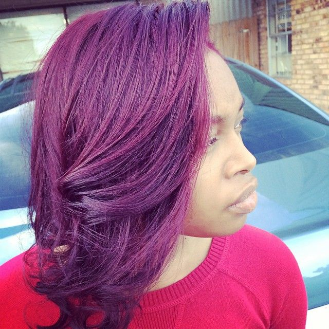 Stunning Hair Thanks To Plumpassion And Mzlicnd2kutup Dyed Hair Dyed Hair Purple Natural Hair Styles