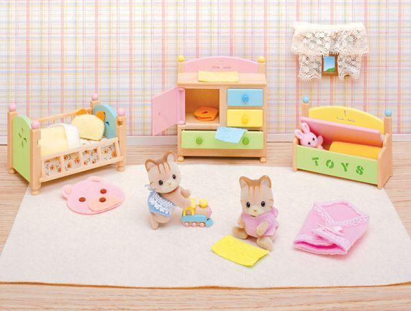 Tanner Tallulahs Nursery Fun Time Set Calico Critters 027025 Details Nursery Room Colors Sleeping Twins Nursery
