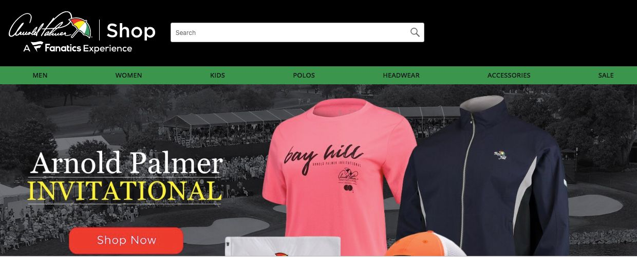 This Screen Represents Work Done For Arnold Palmer Apparel