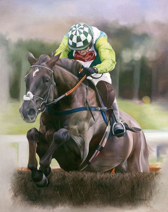 Denman Limited Edition Horse Racing Print by Equestrian Artist Joanna Stribbling