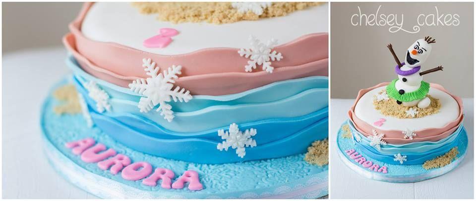 Hula Olaf Cake