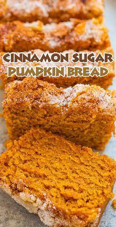 Cinnamon Sugar Pumpkin Bread -   24 sweet pumpkin recipes ideas