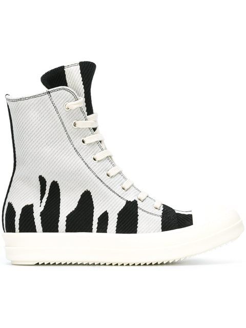 DRKSHDW BY RICK OWENS Woman Perforated Neoprene High-top Sneakers Size 37 E2CV0r