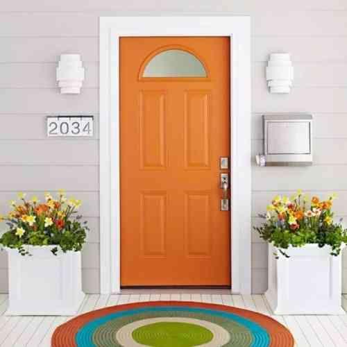 Décorer une porte  comment décorer une porte avec de la peinture