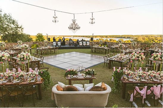 This is inspiration for the layout of the reception. The ...