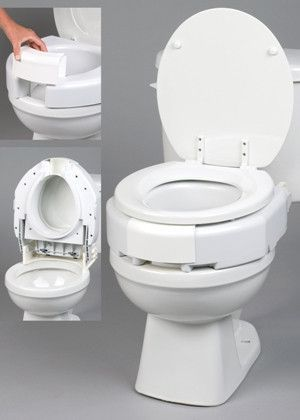 Incredible Secure Bolt Hinged Elevated Toilet Seat Elongated Toilet Camellatalisay Diy Chair Ideas Camellatalisaycom