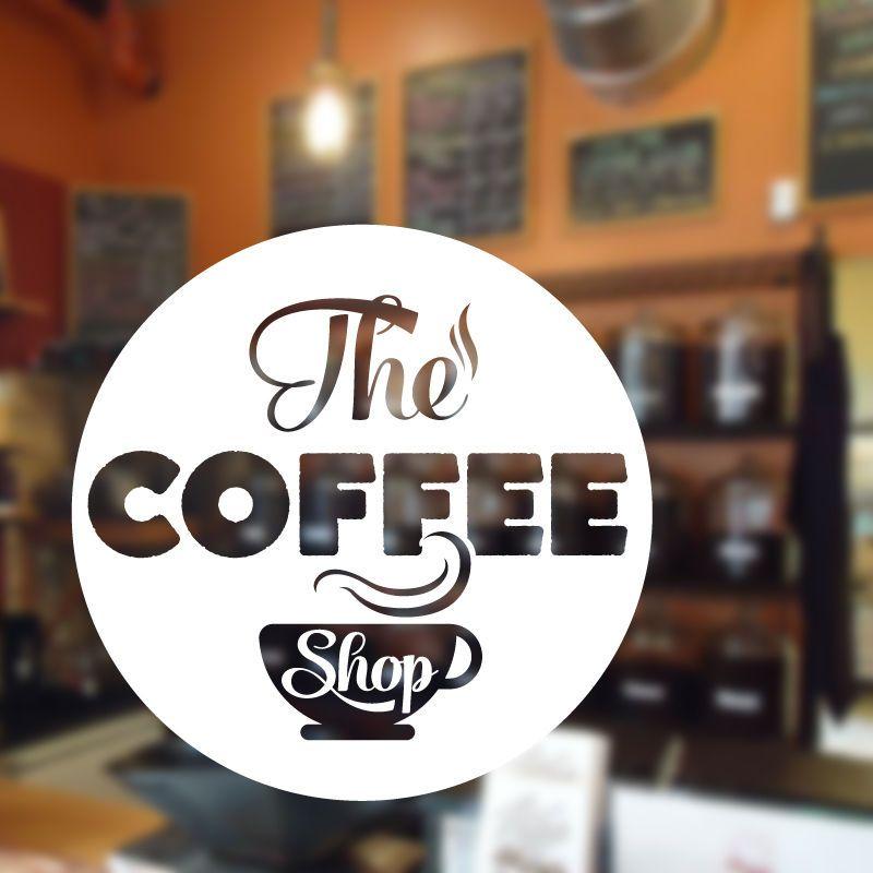 Details Coffee Wall Sticker Cafe Restaurant