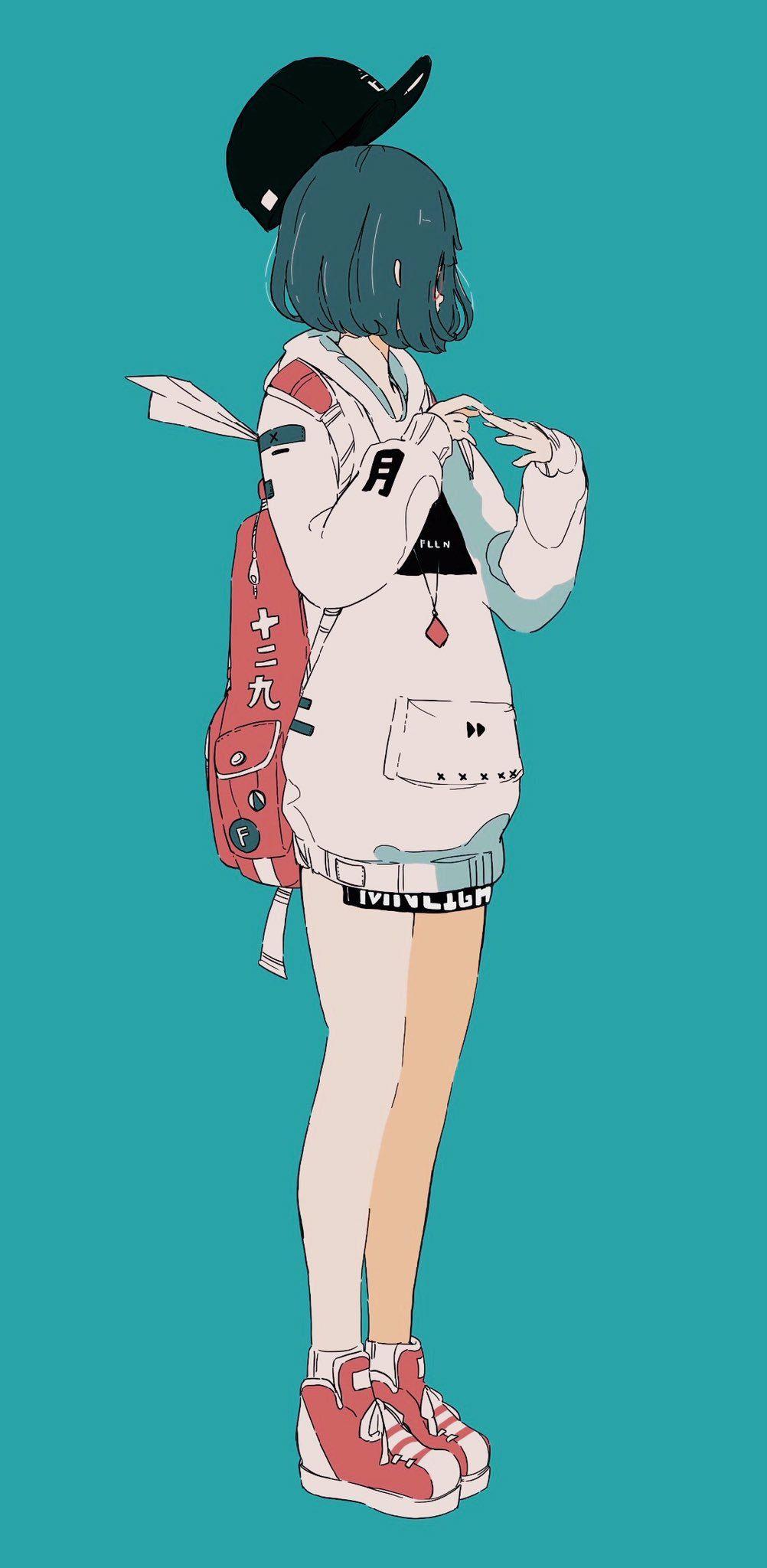 Aesthetic Girl Drawing Anime