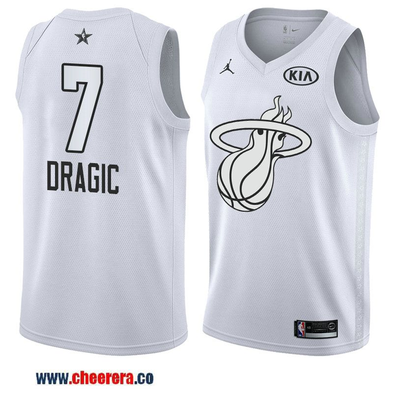 74bdeb07a men s game swingman miami heat  7 goran dragic white 2018 nba all-star  jersey