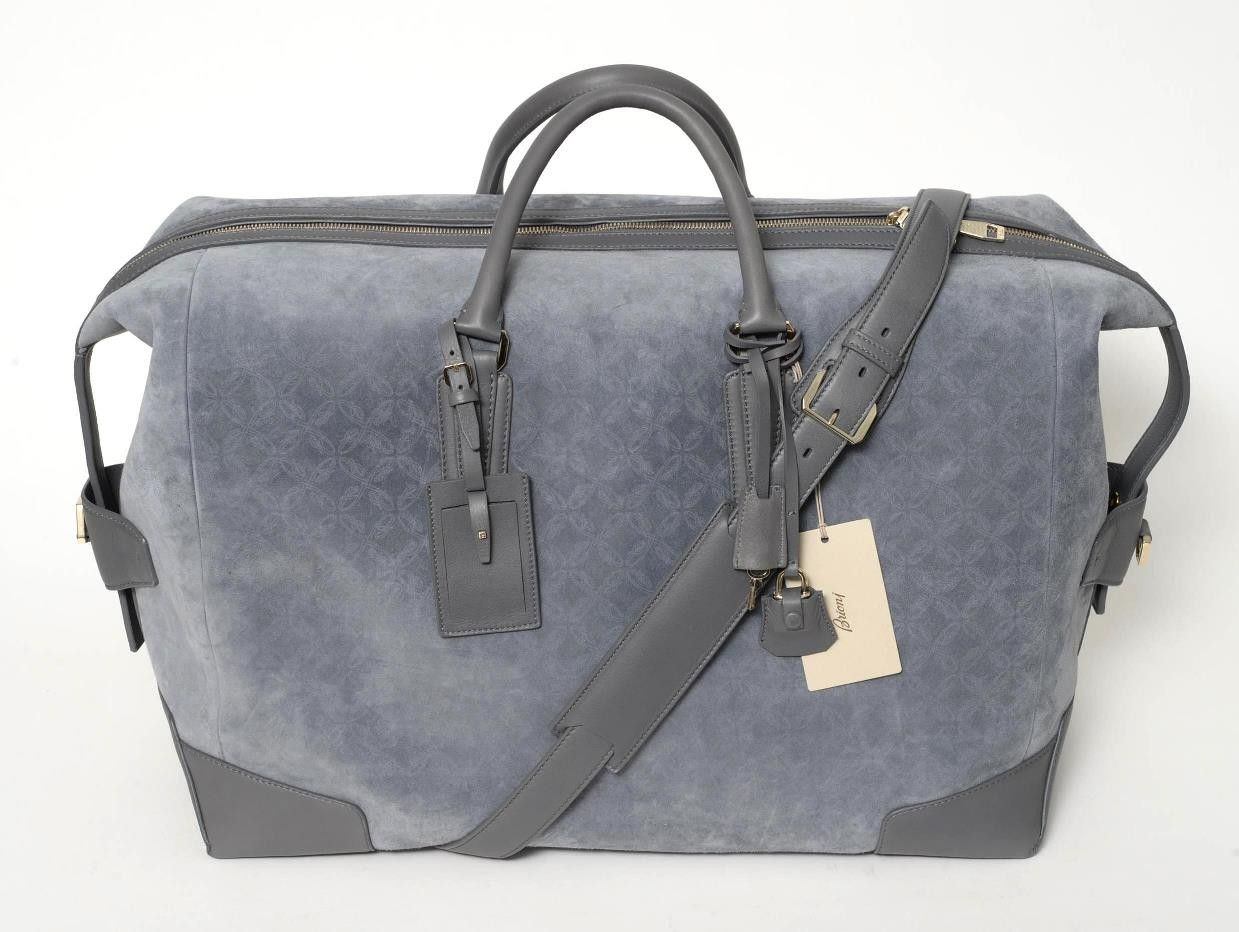 That watermark pattern in this #suede #Brioni bag is utterly charming.  |  Get in there! http://www.frieschskys.com/bags  |  #frieschskys #mensfashion #fashion #mensstyle #style #moda #menswear #dapper #stylish #MadeInItaly #Italy #couture #highfashion #designer #shopping