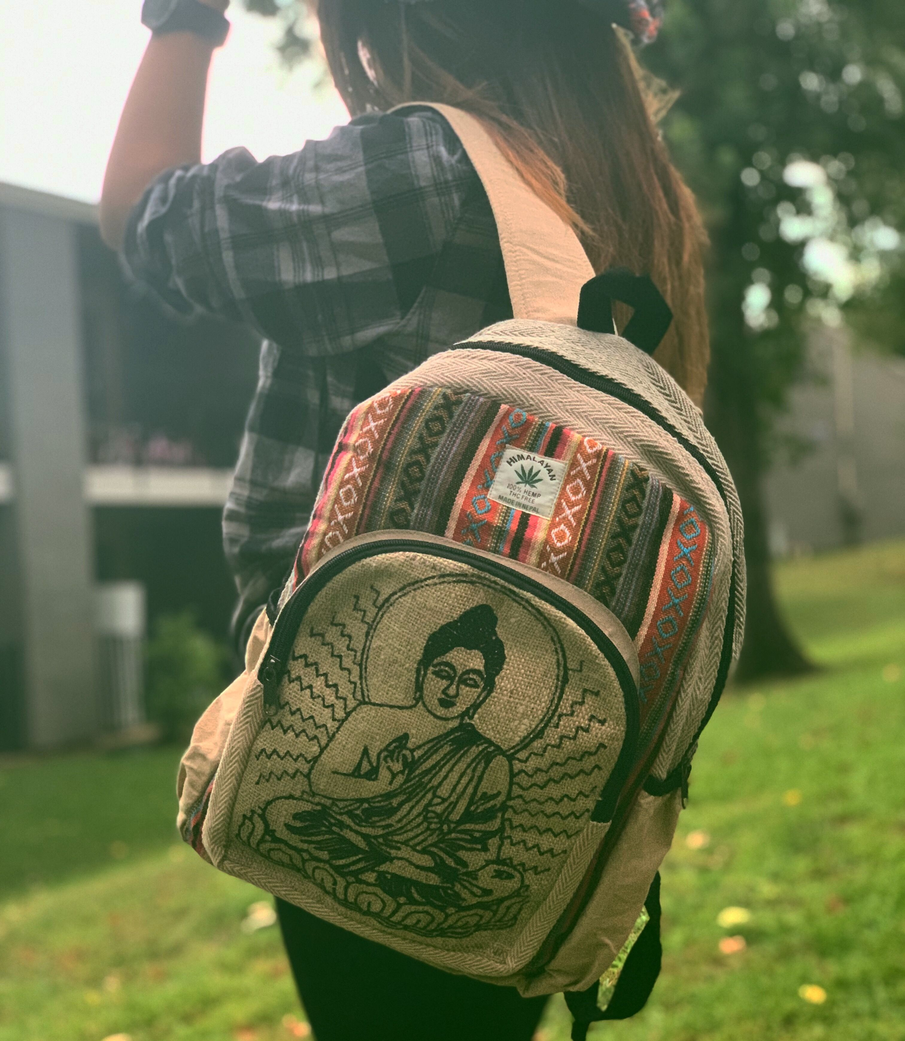 Hemp Backpack-Hippies Bag-Handmade Hemp Bag-Eco friendly laptop bag-school bag