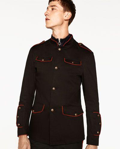 image 5 de veste militaire de zara vestes blazers etc. Black Bedroom Furniture Sets. Home Design Ideas