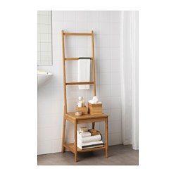 IKEA - RÅGRUND, Stol med håndklædeholder, , Pladsbesparende. Du får både stol og håndklædestativ i ét.Bambus er et slidstærkt naturmateriale.